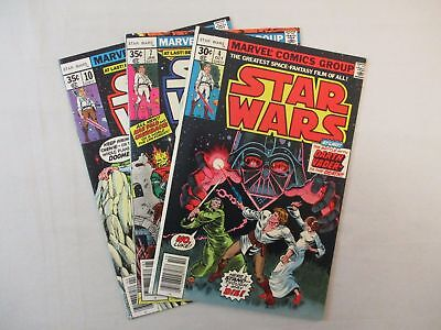 Marvel STAR WARS #4 7 10 Comic Lot Bronze Age 1st Prints FN-VF