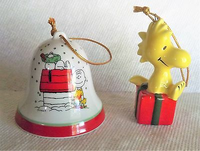 Christmas Ornaments - Snoopy / Bell -- Woodstock / Gift -- Great Looking