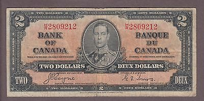 1937 $2 Dollars Coyne Towers - Prefix H/R - Bank of Canada - E767