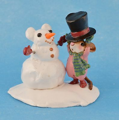 HAT TRICK by Wee Forest Folk, WFF# M-428, Snowman & Mouse