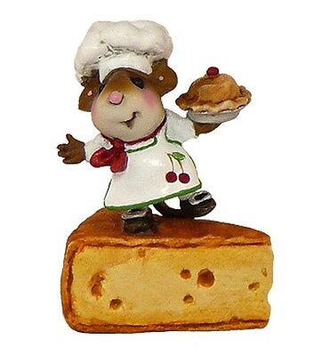 BON APPETIT by Wee Forest Folk, WFF# TM-1, White with Cherry, Mouse Chef