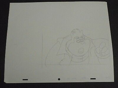 Goof Troop Animation GOOFY  Hand Drawn Production Pencil and Copy Parts Disney