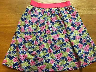 CREWCUTS by J. Crew Blue/Pink Floral Print Skirt Girls size 12