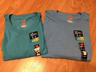 NWT 2 Hanes Men's X-Temp Crew Neck T-Shirt Size 3X