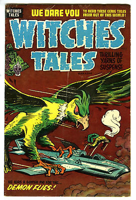 Witches Tales 28 1954 Harvey Horror VG- Lee Elias