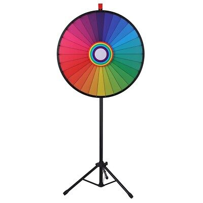 "WinSpin™ 30"" Rainbow Prize Wheel 30 Slot Floor Stand Tripod Spin Game Tradeshow"