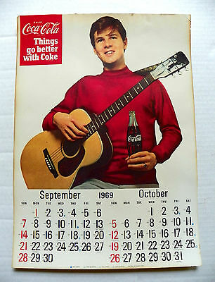"1969 ""coca-Cola ~ Things Go Better With Coke"" Hanging Calendar Sept - Oct Page"