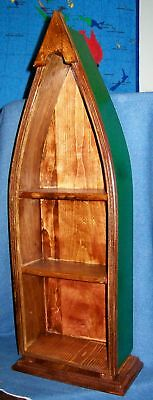 "**NEW** Handmade Wooden Canoe Boat Shelf - 28"" x 9"" x 4"" - Choose finishing!"