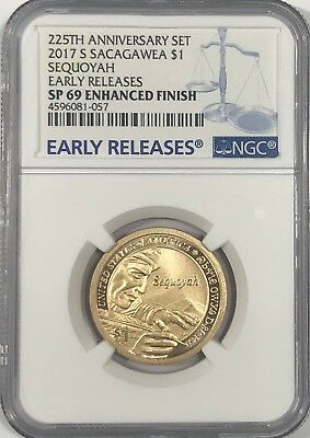 2017 S $1 Enhanced Sacagawea Ngc Sp69 Er Early Releases Dollar From 225Th Set