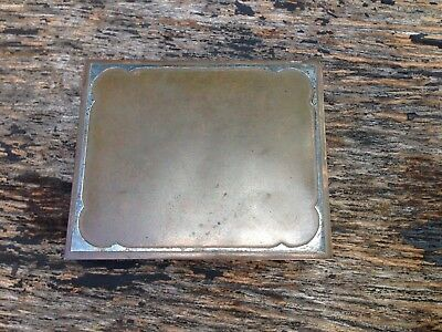 Arts & crafts art deco bronze Sterling jewelry wood lined box Silver Crest 508
