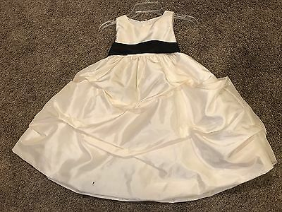 Size 2 Ivory Flower girl Pageant Crowning Easter Sunday Birthday Party Dress