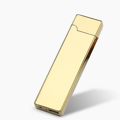 2017 Metal Lighter Gold Light Plasma Flameless Electric USB Rechargeable Hot