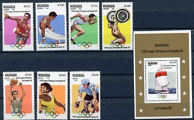 Nicaragua MiNr. 2346-52 + Bl 147 postfrisch/ MNH Olympia (Oly710