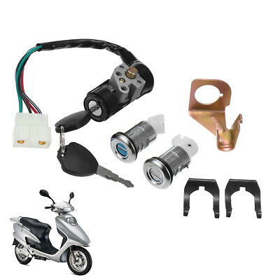 Ignition Switch Key Set 5 Wires For Gy6 50cc 150cc Roketa Jonway Moped Scooter