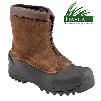 Itasca Men's Brunswick Waterproof Brown Insulated Winter Boots - Size 7