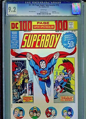 DC 100 Page Super Spectacular #15 CGC 9.2 (1973) Superboy Nick Cardy White Pages