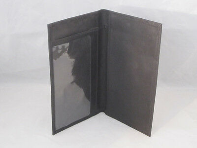 Real Leather Checkbook Cover Basic Black New Great Gift Idea
