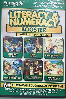 Literacy & Numeracy Booster - Full version for Windows - Brand New Sealed!