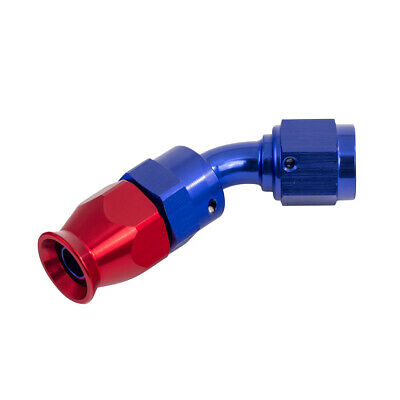 JJC - 6 JIC Swivel 45 Degree Fitting For 100 Series PTFE Lined Fuel / Oil Hose