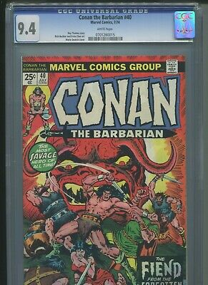 Conan the Barbarian #40 CGC 9.4 (1974) Marvel Comics White Pages