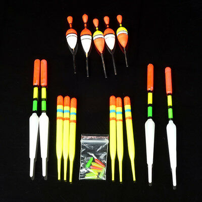 15Pcs Assorted Sizes Fishing Lure Floats Slip for Fishing Tackle Tools Set