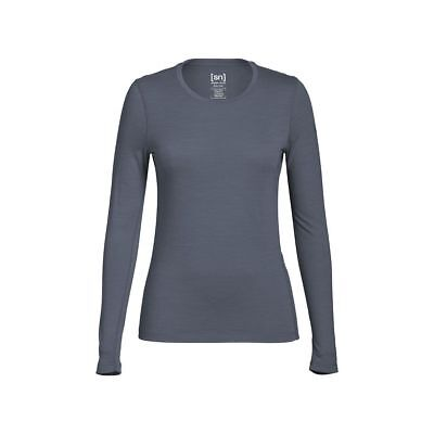 Super.Natural Base 175 Langarmshirt Damen Merino Funktionsunterwäsche grau