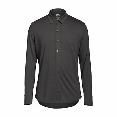 Super.Natural Outlier Button UP Shirt Merino Funktionshemd grau