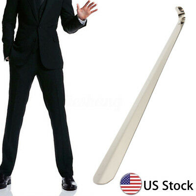 """20"""" Professional Stainless Steel Extra Long Handle Shoe Horn Lifter Shoehorn USA"""
