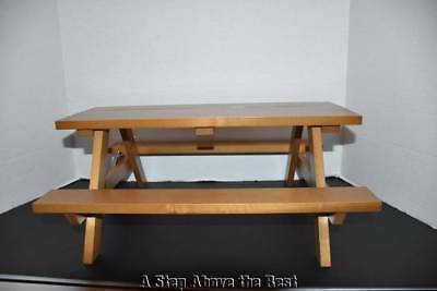 Longaberger Collector Club Miniature Woodcrafts Picnic Table NEW