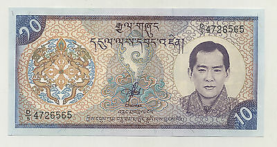 Bhutan 10 Ngultrum 2000 Pick 22 UNC Uncirculated Banknote