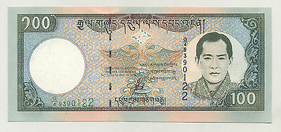 Bhutan 100 Ngultrum ND 2000 Pick 25 UNC Uncirculated Banknote