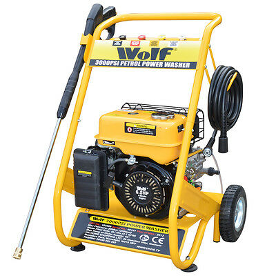 Ex Demo Wolf Petrol Driven Power Washer 3000psi 200bar 6.5hp