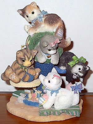 Calico Kittens Cat Figurine Bet Your Kit N Kaboodle We're Five 314579 Retired Ld