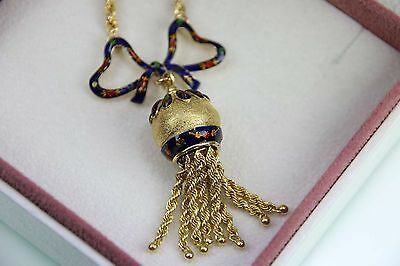 Antikes Gold Collier 750 Emailliert TOP
