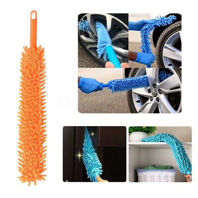 Car Wash Brush Flexible Xtra Long Microfiber Noodle Chenille Wheel Cleaner clean