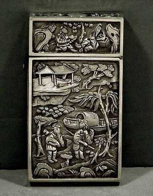 Chinese Export Silver Box     c1820  Houchong H.C.G.         Was $1500 -  $950