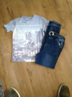 Boys Jeans And Top Age 9/9/10 Years