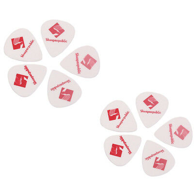 10Pcs 0.88mm ABS Plastic Plectrum Sharp Tip Guitar Picks Guitar Ukelele Part