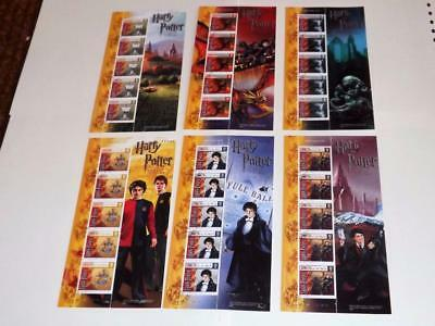 Isle Of Man-2005-Harry Potter-Goblet Of Fire-6 Compl Mini Shts-Scarce-Fine Used