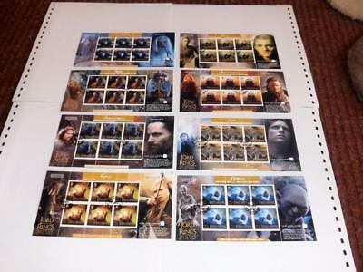 Isle Of Man-2003-Lord Of The Rings-8 Compl Mini Sheets+Scarce-Seldom Seen-Used