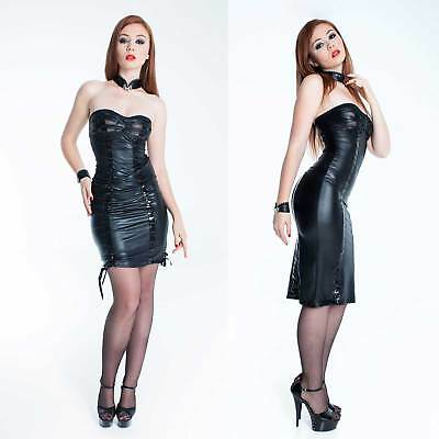 PATRICE CATANZARO Tamara Wetlook Kleid inkl. Träger Länge variabel Lack Dress