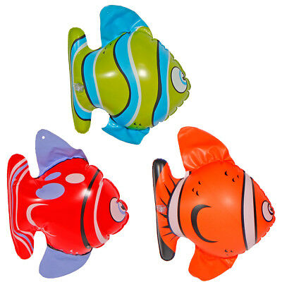 Party Pool Beach Inflatable Fishes by 3 Sea Fish Tropical Summer