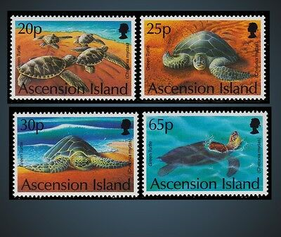 1994 Ascension Green Turtle - On The Beach Crawlin In Sand , Swimming Sc.585 588