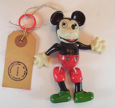 """Celluloid Muster Mickey Mouse Figur Nr. 5003 Höhe 10cm (4"""")  50er Jh. Japan #11"""