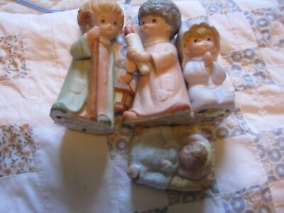 Must See  4 Pieces Homco Figurines Nativity Scene Set Christmas Holiday Winter