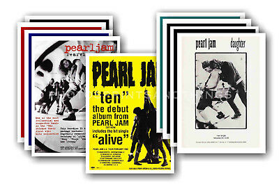 PEARL JAM - 10 promotional posters  collectable postcard set # 2