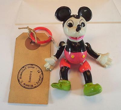 "Celluloid Muster Mickey Mouse Figur Nr. 5003 Höhe 7,5cm (3"")  50er Jh. Japan #14"