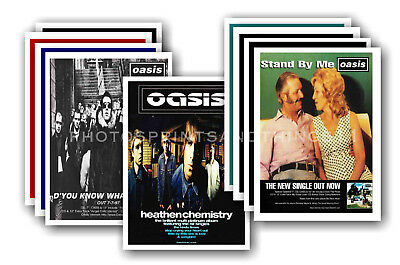 OASIS - 10 promotional posters  collectable postcard set # 4