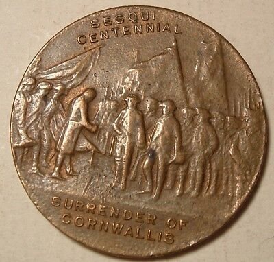 Vintage Token 1931 150th ANNIVERSARY OF SURRENDER OF LORD CORNWALLIS IN YORKTOWN