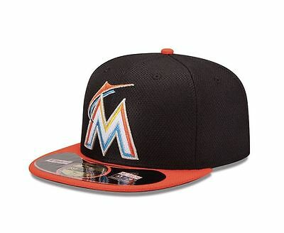 New Era MLB Miami Marlins Diamond Batting Practice 59 FIFTY Fitted 7 5/8 Cap